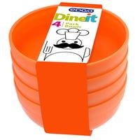 Edgo Dineit Bowls Orange 4 Pack