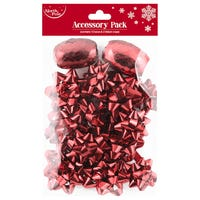 Christmas Bows and Ribbon Cops Red 14 Pack