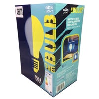 Light Bulb Box Table Lamp Blue
