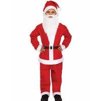 Santa Dress Up Suit Boys Age 10-12