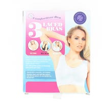 Comfortisse Laced Bra Basic Size Small 3 Pack