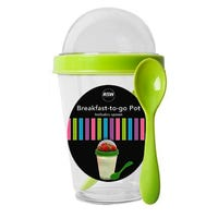 Breakfast-To-Go Pot with Spoon in Green 350ml