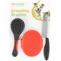 Grooming Pet Brushes 3 Pack
