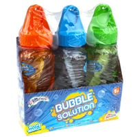 Bubble Solution With Coloured Caps 3 Pack