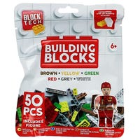 Block Tech Building Blocks in Red 50 Pack