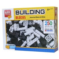 Block Tech Black and White Assorted Blocks 250 Pieces
