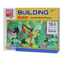 Block Tech Plants and Flowers Assorted Blocks 164 Pieces