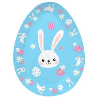 Easter Disposable Plates Bunny 6 Pack