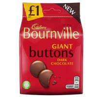 Cadbury Bournville Dark Chocolate Giant Buttons 95g