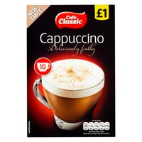 Cafe Classic Cappuccino Sachets 10 Pack