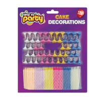 Cake Decorations- Multi Pack of Candles