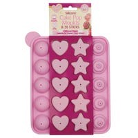 Silicone Assorted Shapes Cake Pop Moulds and 20 Sticks