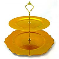Cake Stand with 2 Tiers in Gold