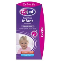 Calpol Infant Suspension Sugar Free Strawberry 100ml