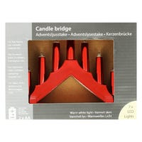 LED Candle Bridge in Red