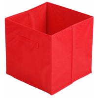Canvas Storage Cube in Red 31cm