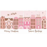 Christmas Cards Pink 12 Pack