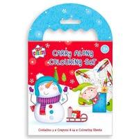 Christmas Carry Along Colouring Set