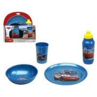 Disney Cars Childrens Melamine Tableware 4 Piece Dining Set