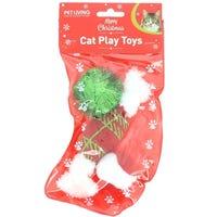 Christmas Cat Play Stocking 3 Piece