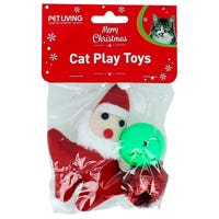 Christmas Cat Play Toys 3 Pack