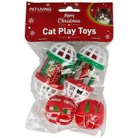 Christmas Cat Jingle Toys 6 Pack