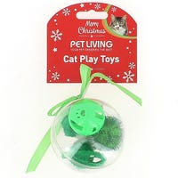 Christmas Bauble 4 Piece Cat Toy Set Assorted Colours