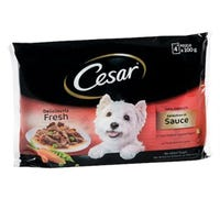 Cesar Pouch Selection In Sauce 4 Pack