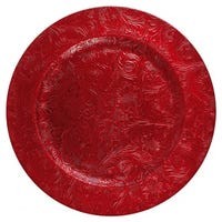 Embossed Charger Plate in Red