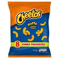 * Cheetos Cheese Puffs 8 Pack x 13g