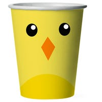 Easter Disposable Cups Chick 12 Pack
