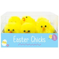 Easter Chick Decorations 4cm 6 Pack