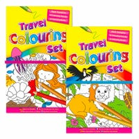 Children's Travel Colouring Set Assorted