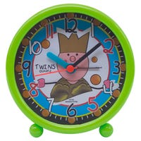Twins Quartz Children's Alarm Clock in Green