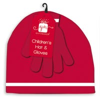 Childrens Knitted Hat and Glove Set
