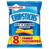 Smiths Chipsticks Salt and Vinegar 8 Pack