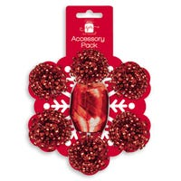 Christmas Gift Wrapping Accessories Red Bows And Ribbon