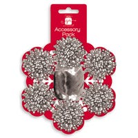 Christmas Gift Wrapping Accessories Silver Bows And Ribbon