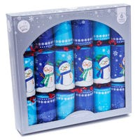 Christmas Crackers in Fun Snowman Design 6 Pack