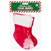 Christmas Craft Foam Shapes in Santa's Boot 10 Pack