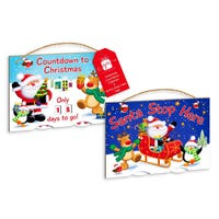 Christmas Double Sided Spinner Plaque