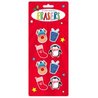 Christmas Erasers 8 Pack