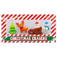 Christmas Novelty Eraser Set 4 Pack
