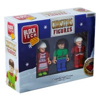 Block Tech Christmas Figures with Santa's Helpers 3 Pack