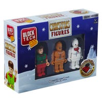 Block Tech Christmas Figures with Gingerbread Man and Helpers 3 Pack