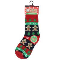 Kids Christmas Novelty Sock Gingerbread Man Size 3- 5.5
