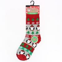 Kids Christmas Novelty Sock Penguin Size 9 - 12