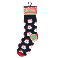 Kids Christmas Novelty Sock Santa Faces Size 3- 5.5
