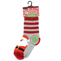 Kids Christmas Novelty Sock Santa Stripes 12 -3
