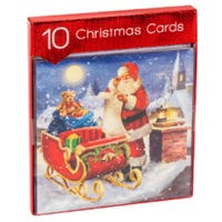 Christmas Scene Square Cards 10 Pack